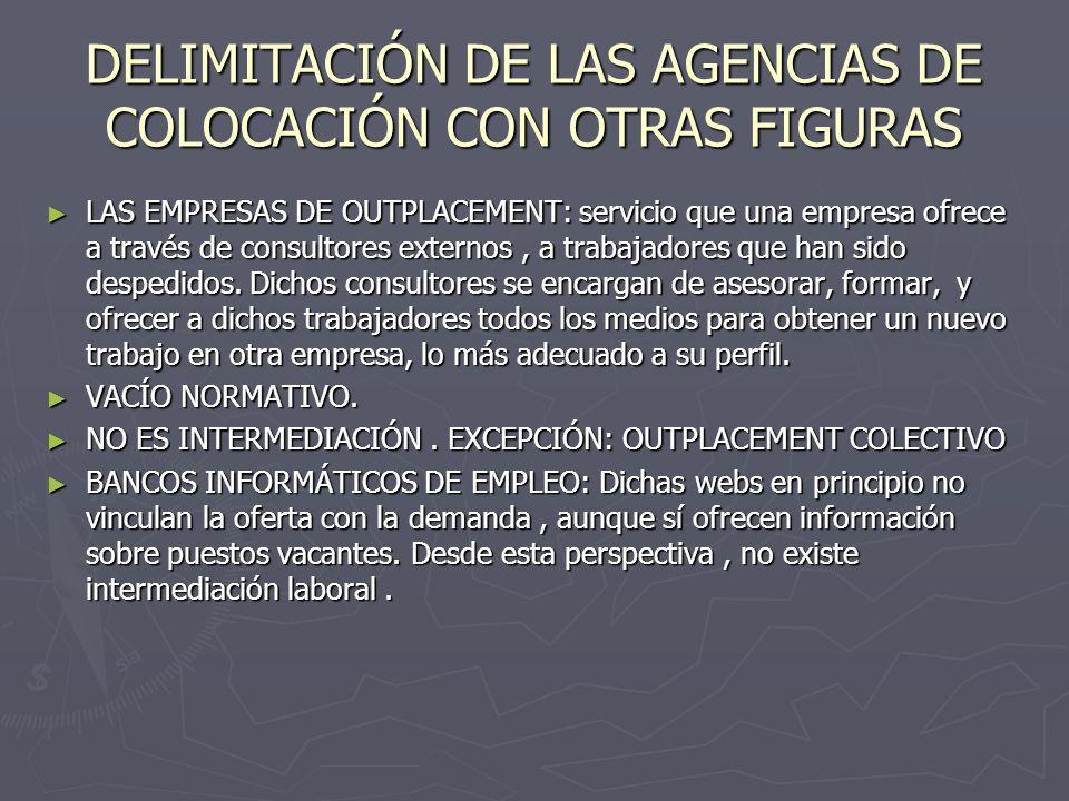 DELIMITACIÓN DE LAS AGENCIAS DE COLOCACIÓN CON OTRAS FIGURAS
