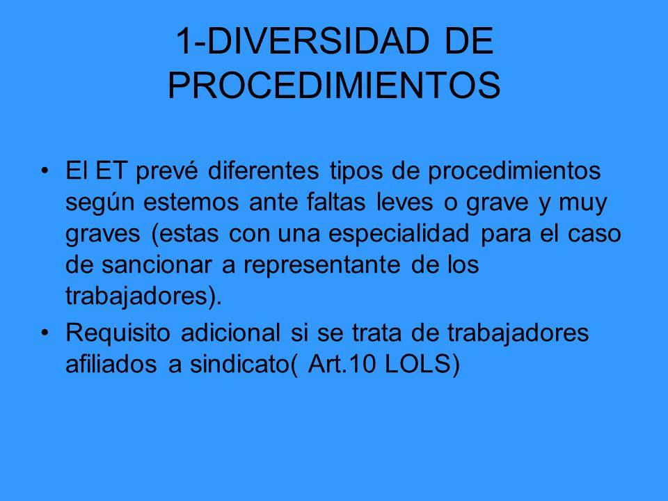 1-DIVERSIDAD DE PROCEDIMIENTOS