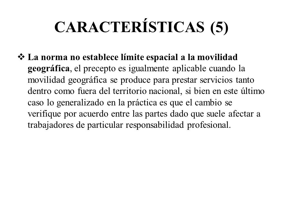 CARACTERÍSTICAS (5)