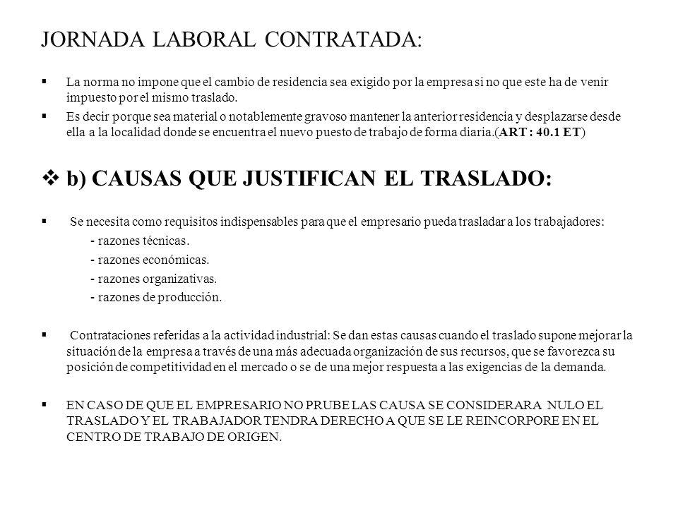 JORNADA LABORAL CONTRATADA: