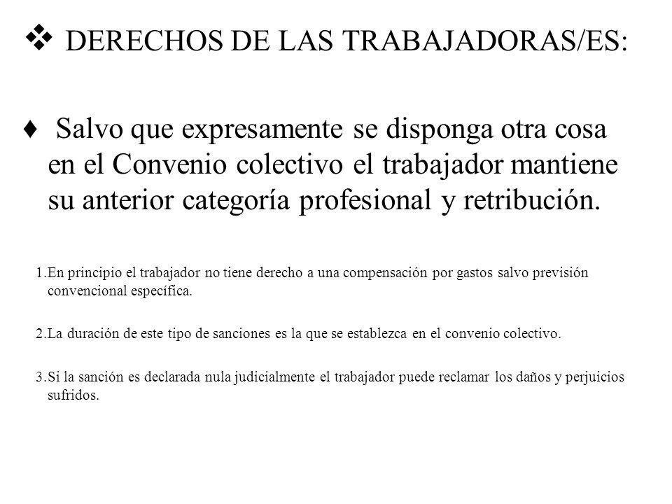 DERECHOS DE LAS TRABAJADORAS/ES:
