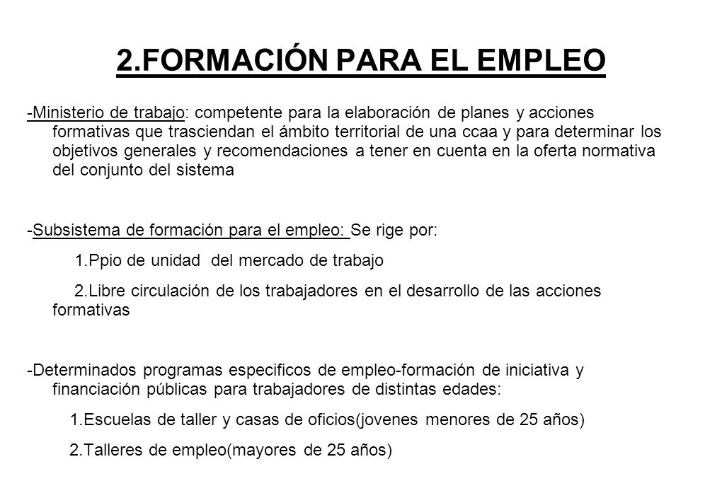 2.FORMACIÓN PARA EL EMPLEO