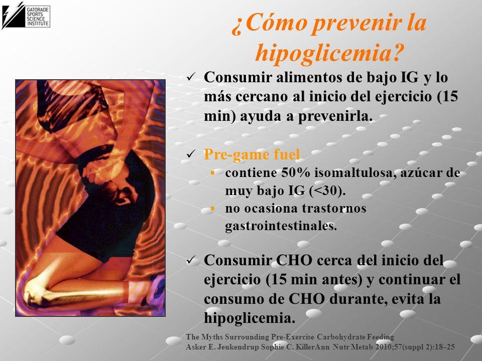 ¿Cómo prevenir la hipoglicemia