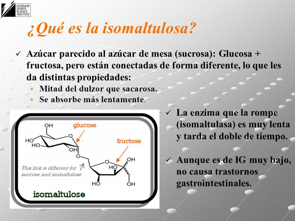 ¿Qué es la isomaltulosa