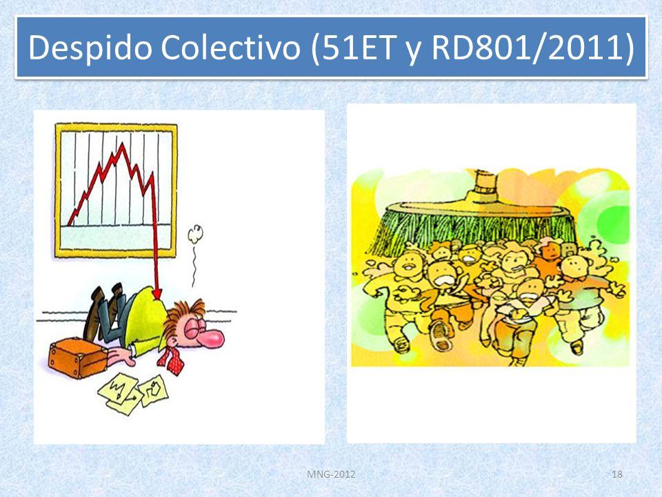 Despido Colectivo (51ET y RD801/2011)
