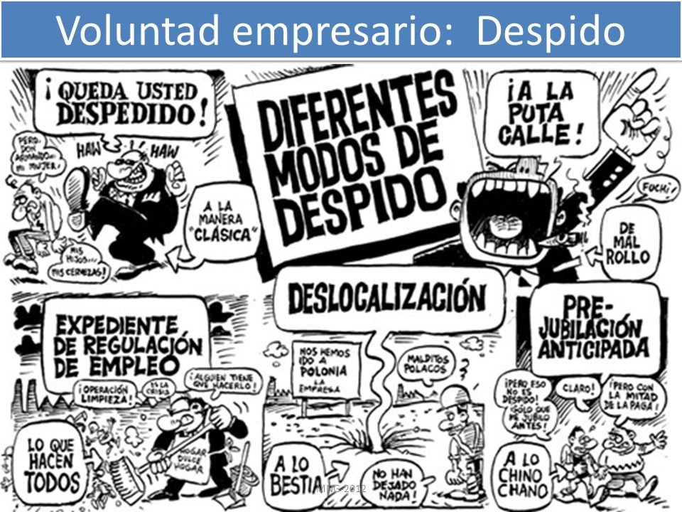 Voluntad empresario: Despido