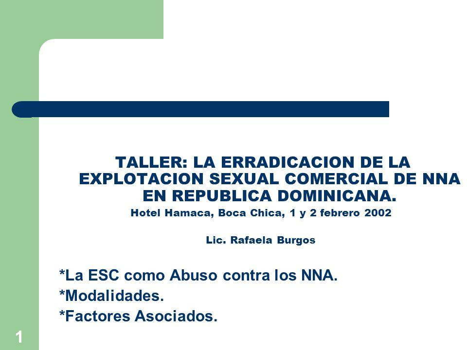 Hotel Hamaca, Boca Chica, 1 y 2 febrero 2002