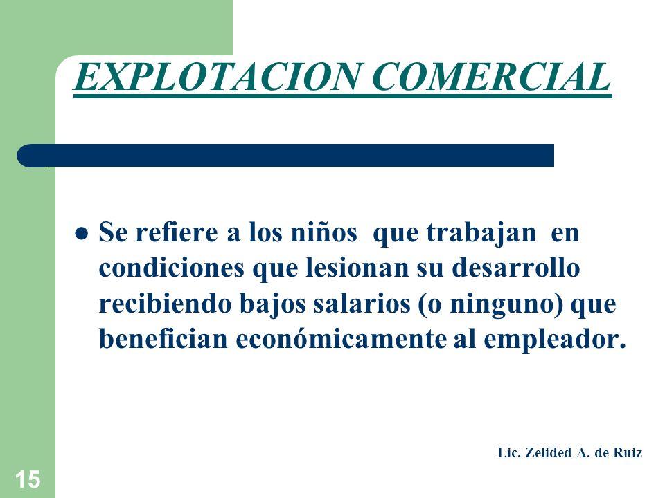 EXPLOTACION COMERCIAL