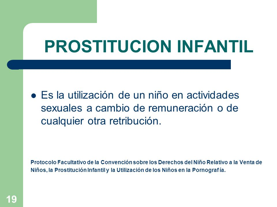PROSTITUCION INFANTIL