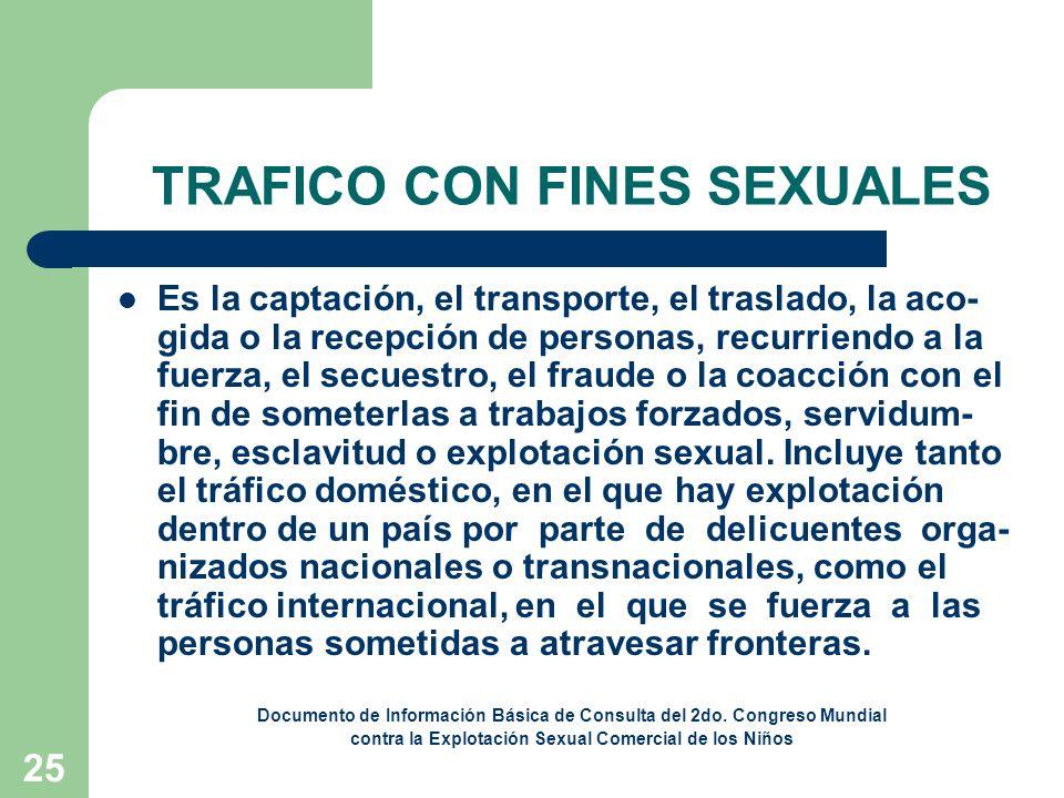 TRAFICO CON FINES SEXUALES