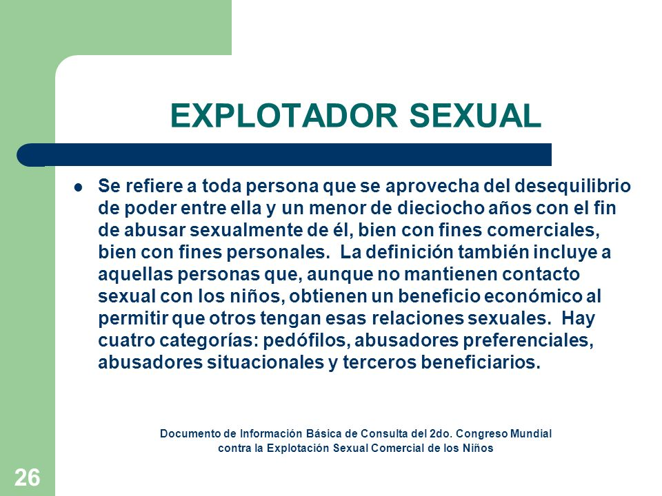 EXPLOTADOR SEXUAL
