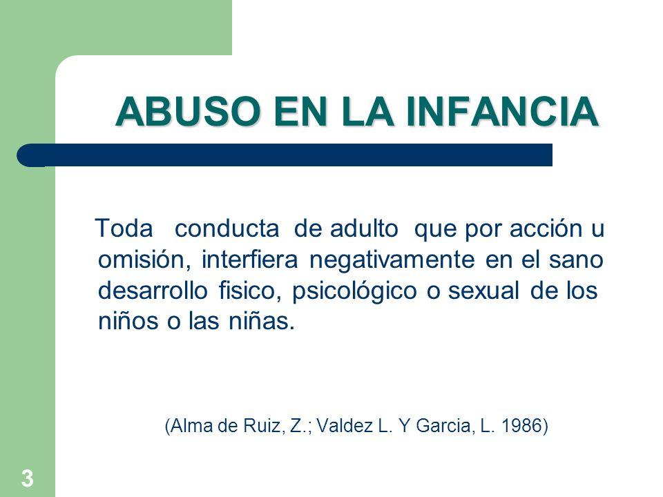 (Alma de Ruiz, Z.; Valdez L. Y Garcia, L. 1986)