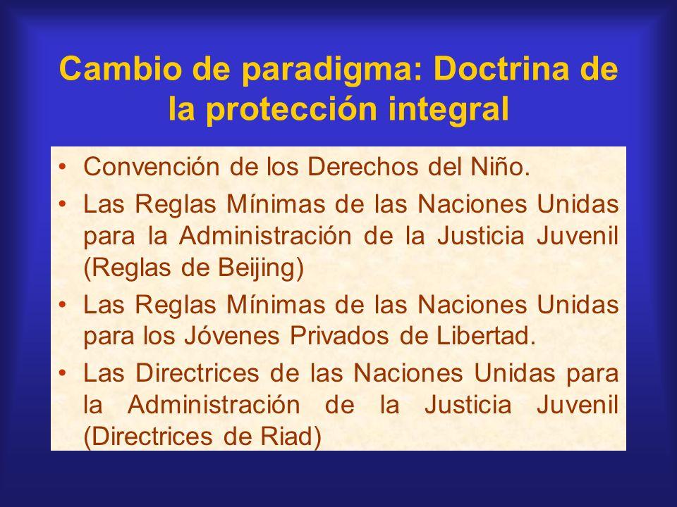 Cambio de paradigma: Doctrina de la protección integral