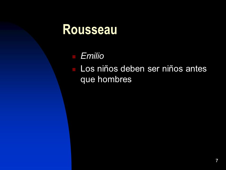 Rousseau Emilio Los niños deben ser niños antes que hombres