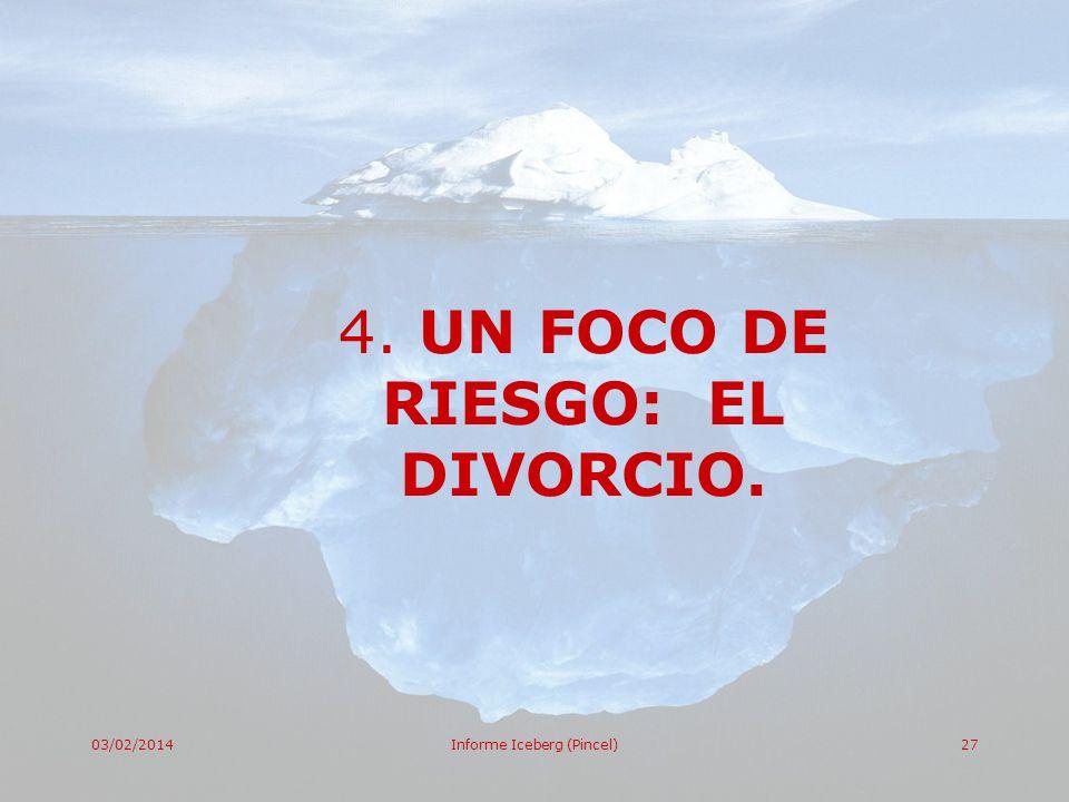 4. UN FOCO DE RIESGO: EL DIVORCIO.