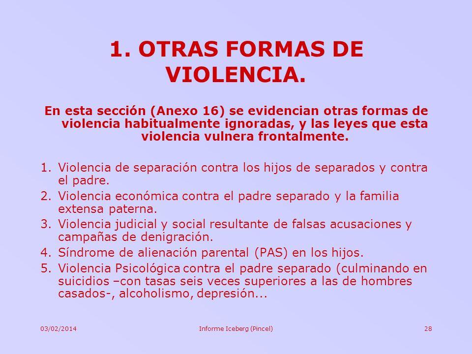 1. OTRAS FORMAS DE VIOLENCIA.