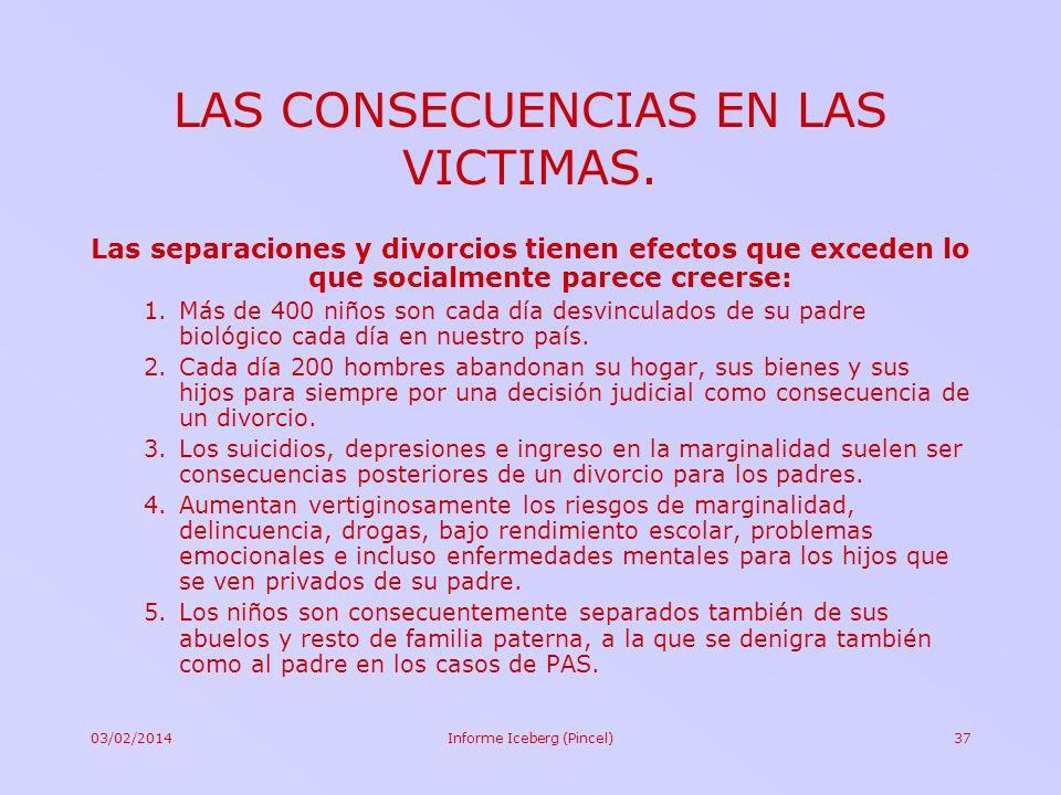 LAS CONSECUENCIAS EN LAS VICTIMAS.