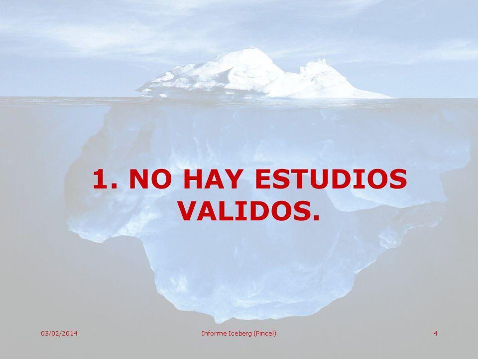 1. NO HAY ESTUDIOS VALIDOS.