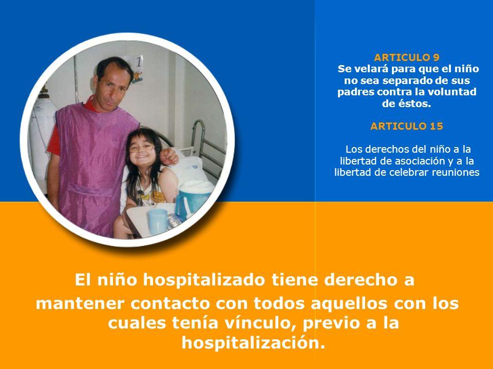 El niño hospitalizado tiene derecho a