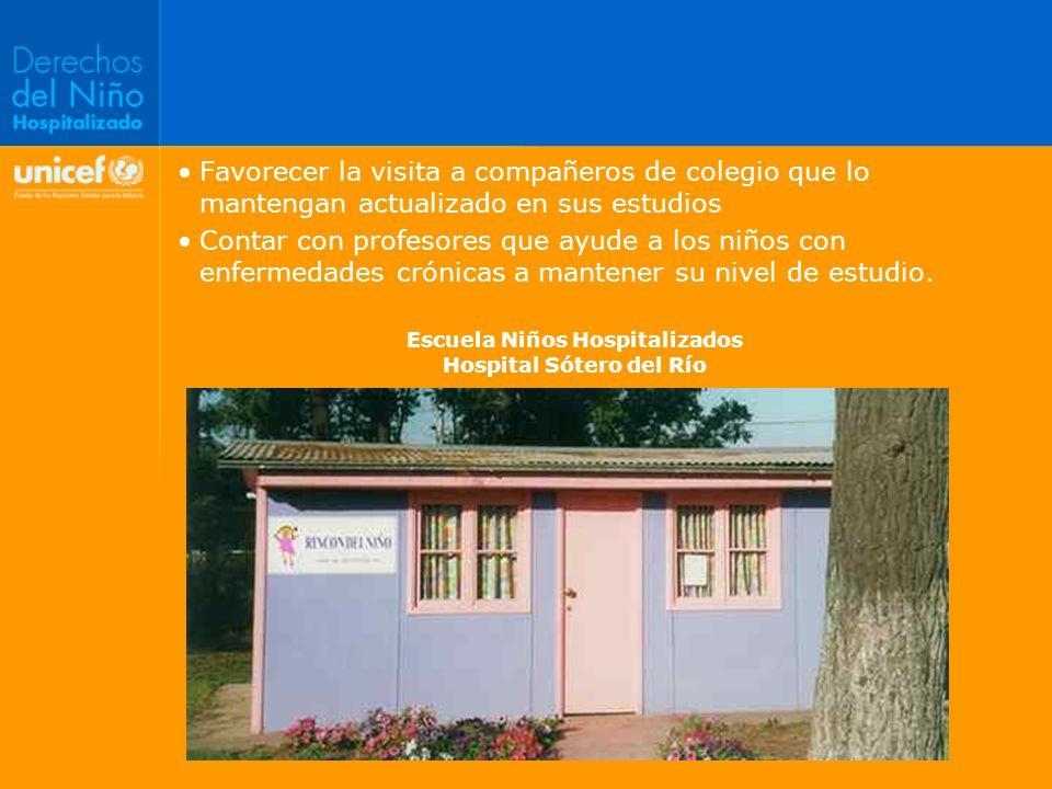 Escuela Niños Hospitalizados Hospital Sótero del Río