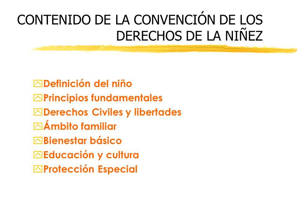 CONTENIDO DE LA CONVENCIÓN DE LOS DERECHOS DE LA NIÑEZ