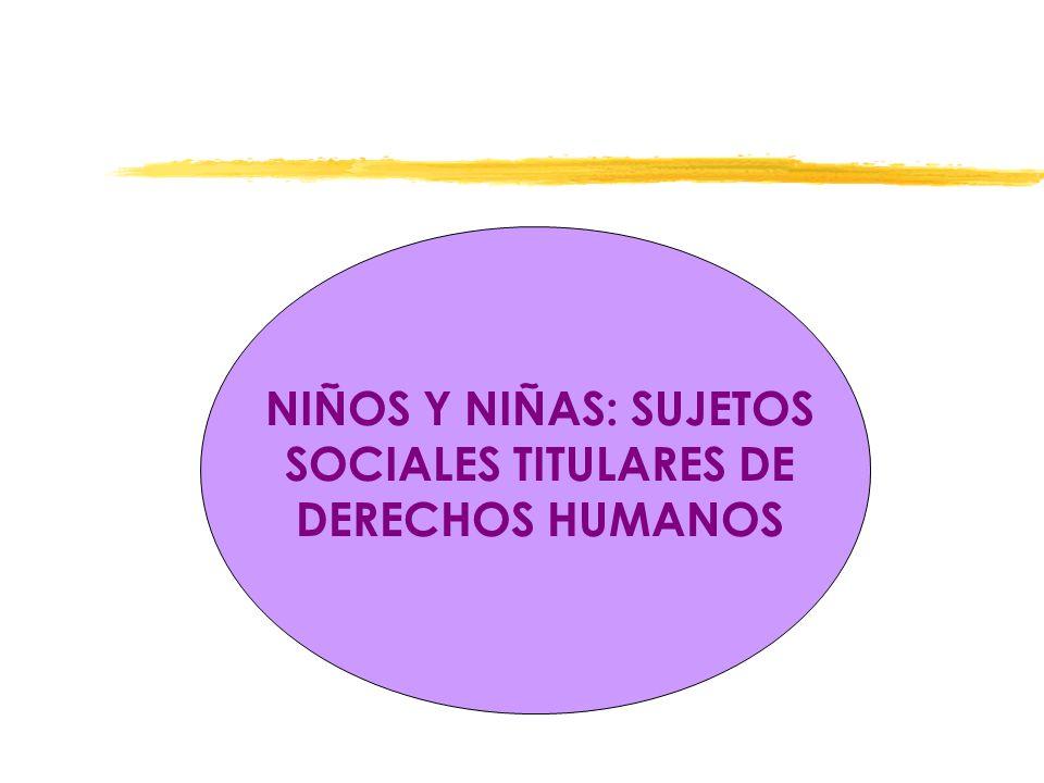 NIÑOS Y NIÑAS: SUJETOS SOCIALES TITULARES DE DERECHOS HUMANOS