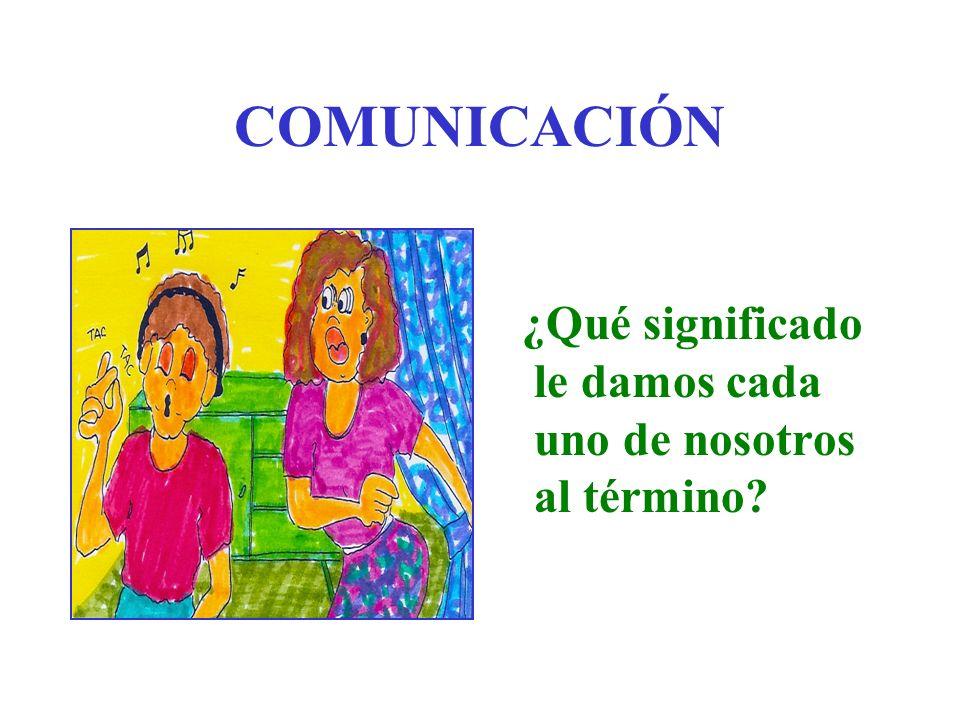COMUNICACIÓN ¿Qué significado le damos cada uno de nosotros al término