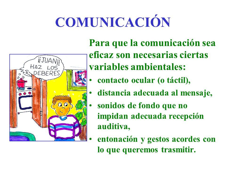 COMUNICACIÓN Para que la comunicación sea