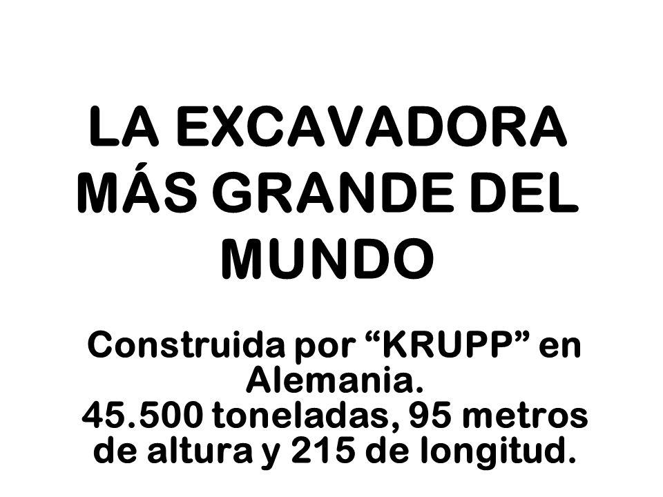 LA EXCAVADORA MÁS GRANDE DEL MUNDO