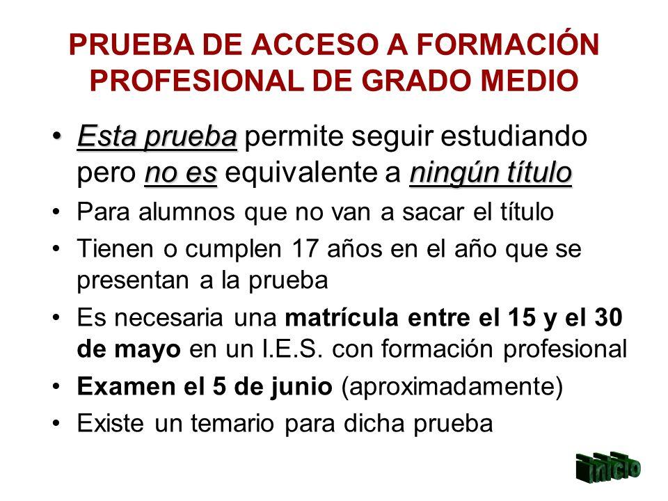 PRUEBA DE ACCESO A FORMACIÓN PROFESIONAL DE GRADO MEDIO