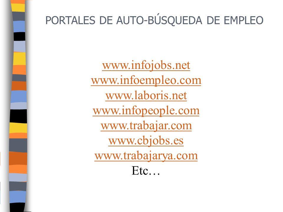 www.infojobs.net www.infoempleo.com www.laboris.net www.infopeople.com