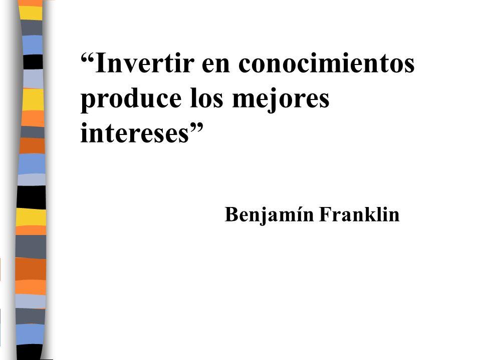 Invertir en conocimientos produce los mejores intereses