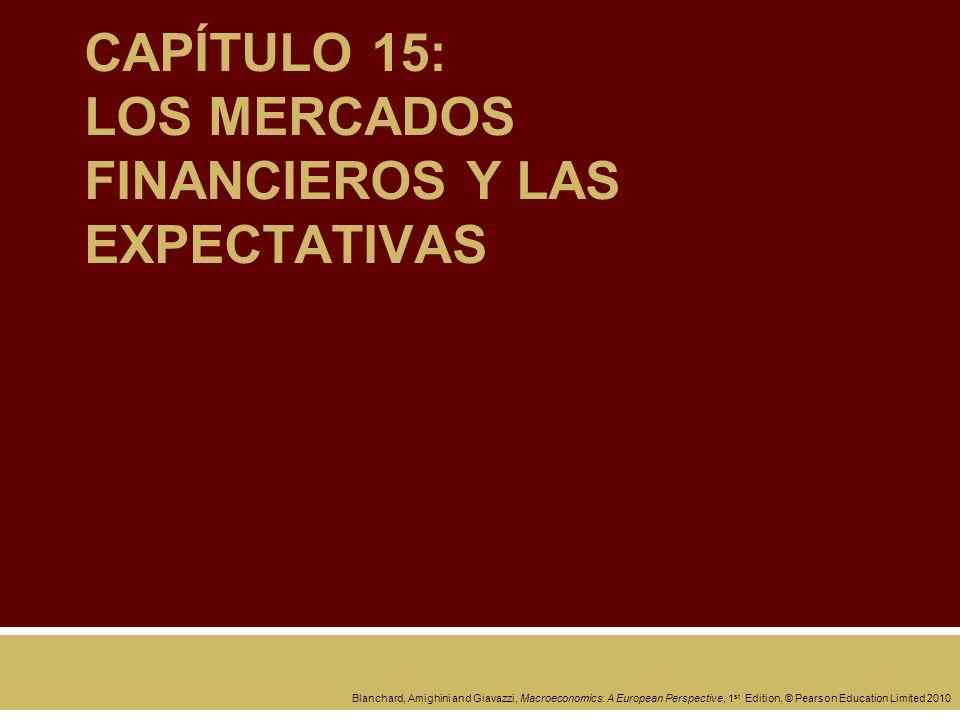 CAPÍTULO 15: LOS MERCADOS FINANCIEROS Y LAS EXPECTATIVAS
