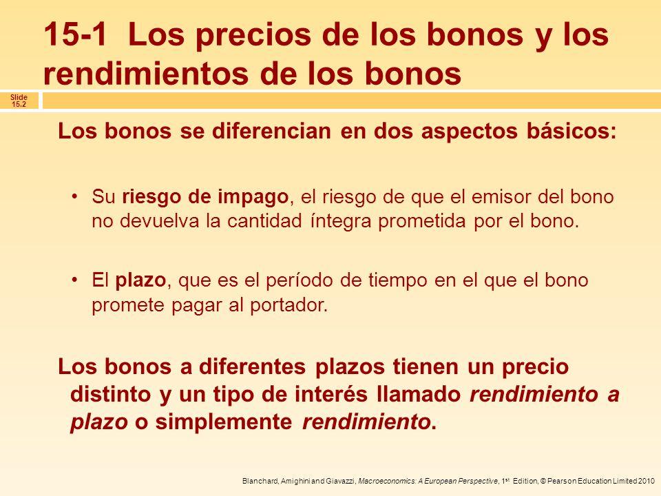 15-1 Los precios de los bonos y los rendimientos de los bonos