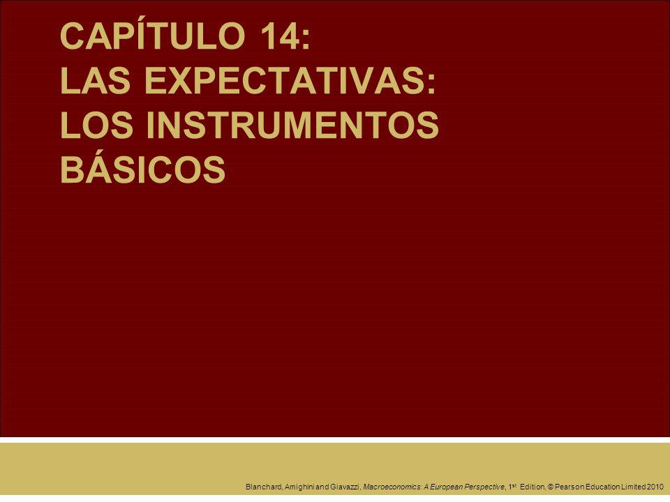 CAPÍTULO 14: LAS EXPECTATIVAS: LOS INSTRUMENTOS BÁSICOS