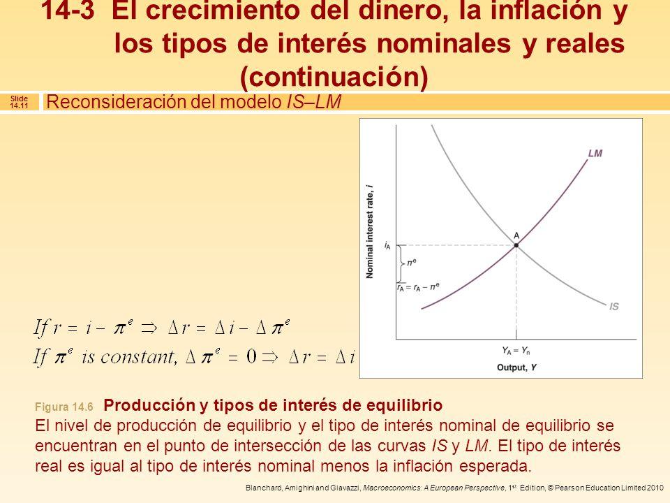 14-3 El crecimiento del dinero, la inflación y los tipos de interés nominales y reales