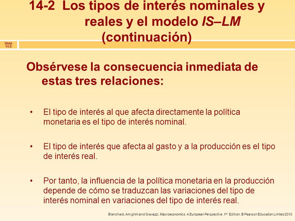 14-2 Los tipos de interés nominales y reales y el modelo IS–LM