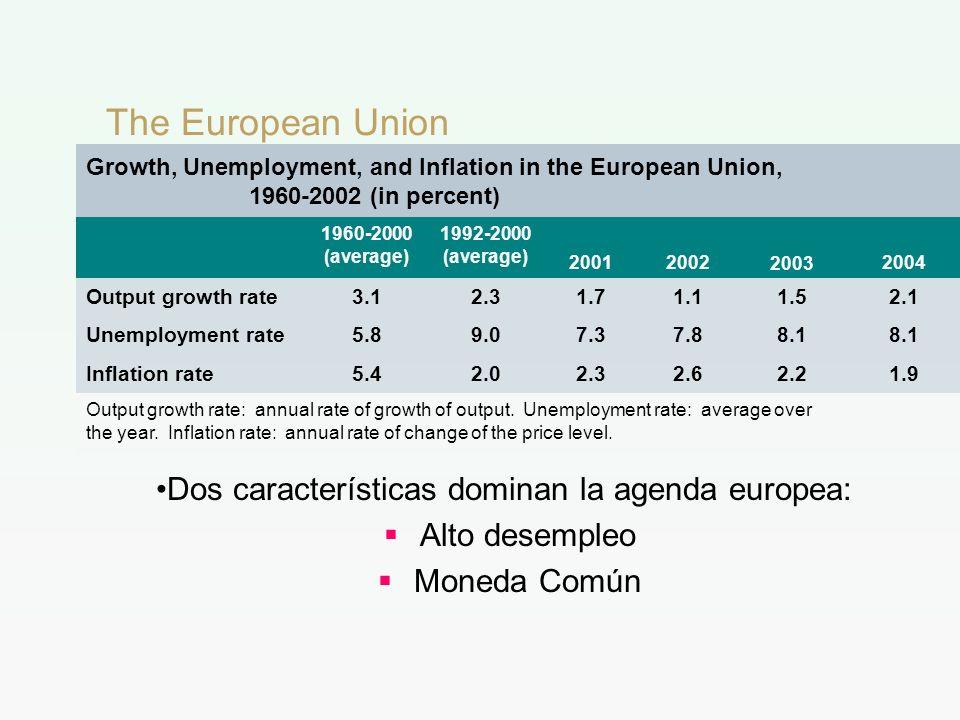 Dos características dominan la agenda europea: