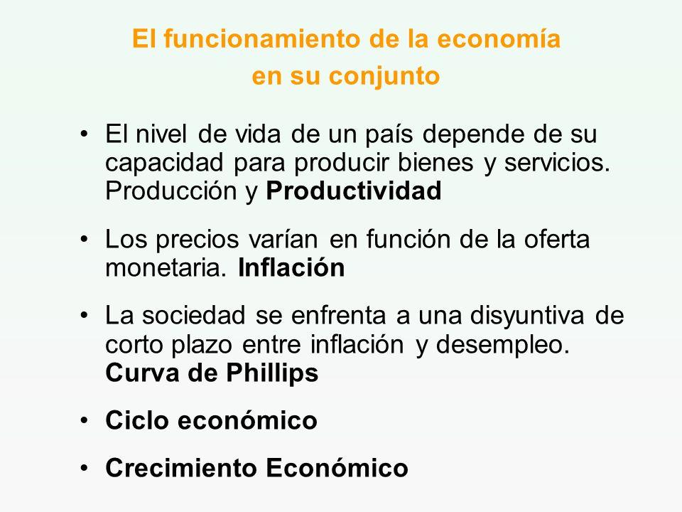 El funcionamiento de la economía en su conjunto