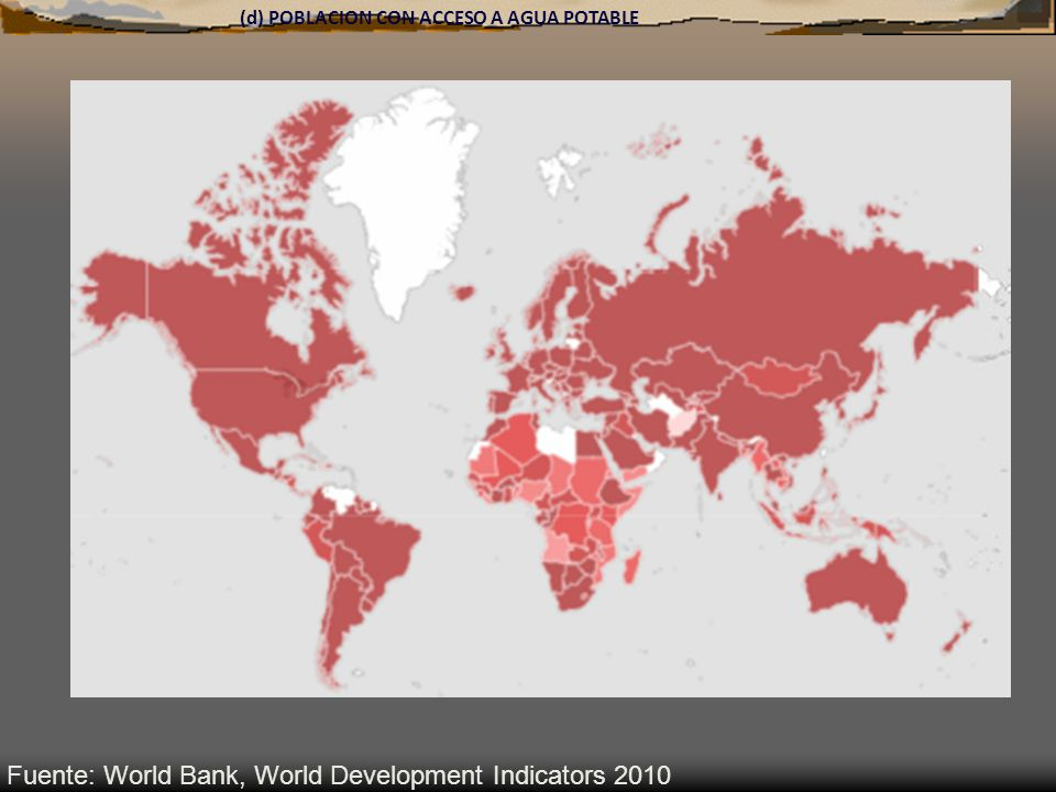 Fuente: World Bank, World Development Indicators 2010