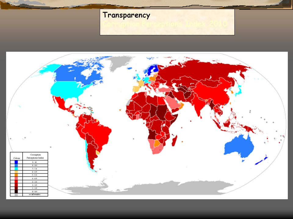 Transparency Corruption Perceptions Index 2010