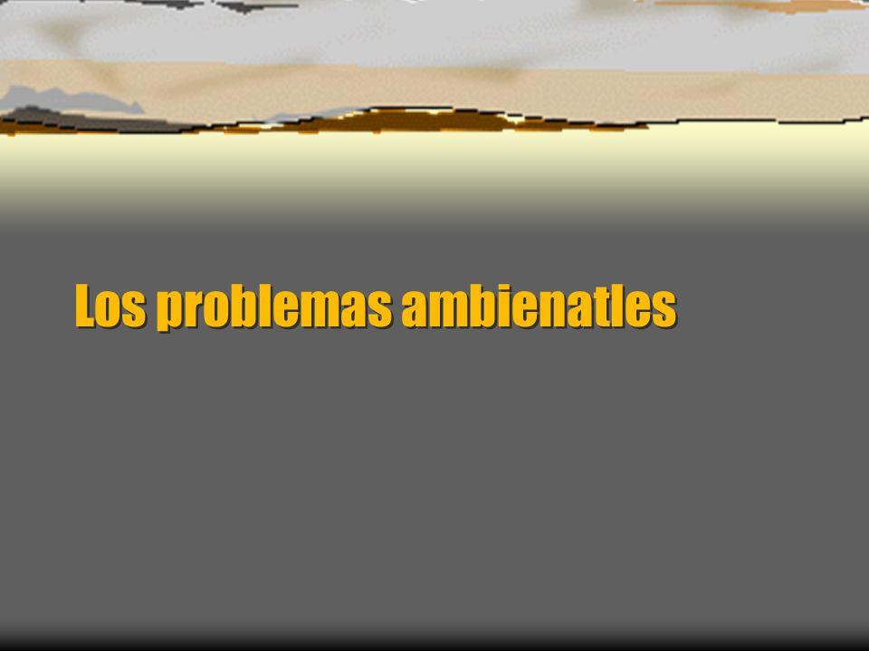 Los problemas ambienatles