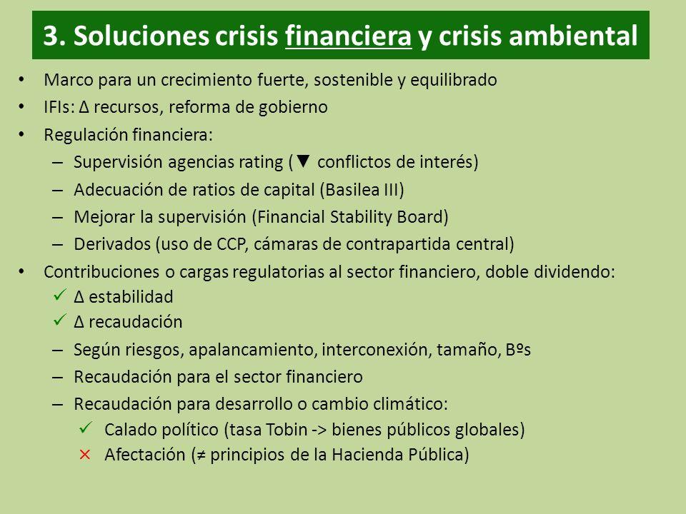 3. Soluciones crisis financiera y crisis ambiental