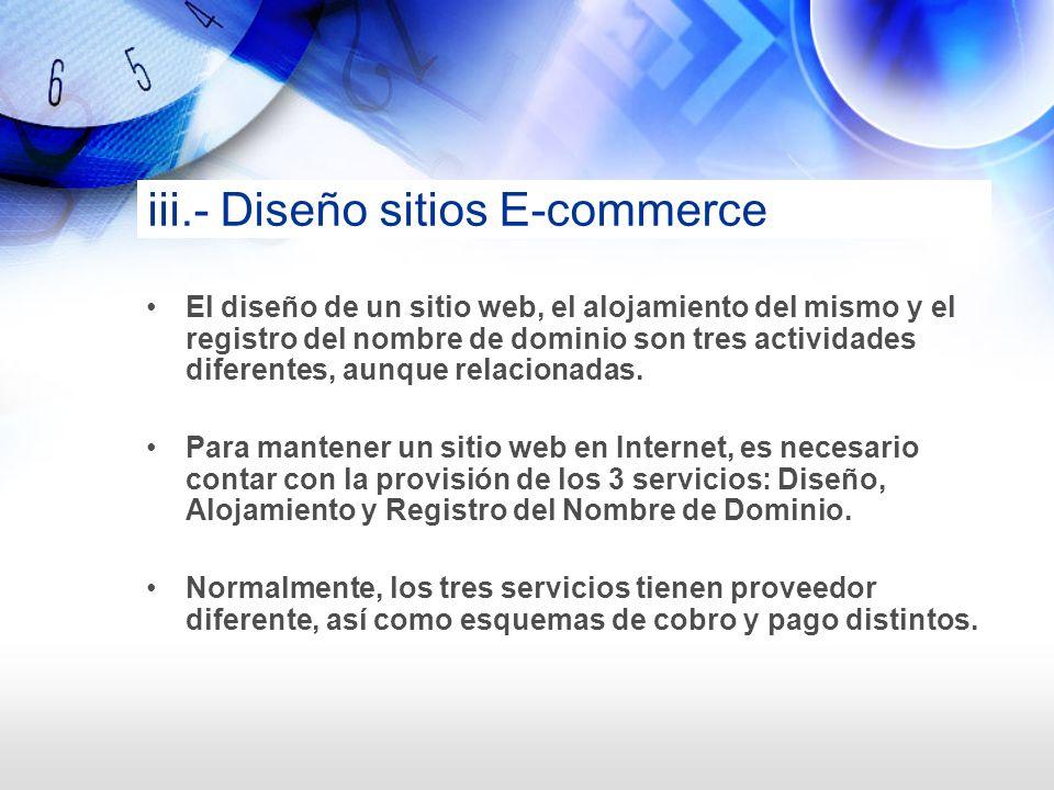 iii.- Diseño sitios E-commerce