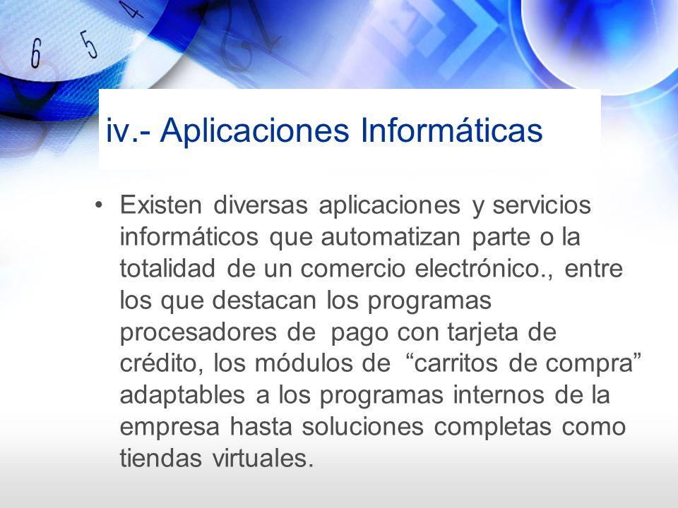 iv.- Aplicaciones Informáticas
