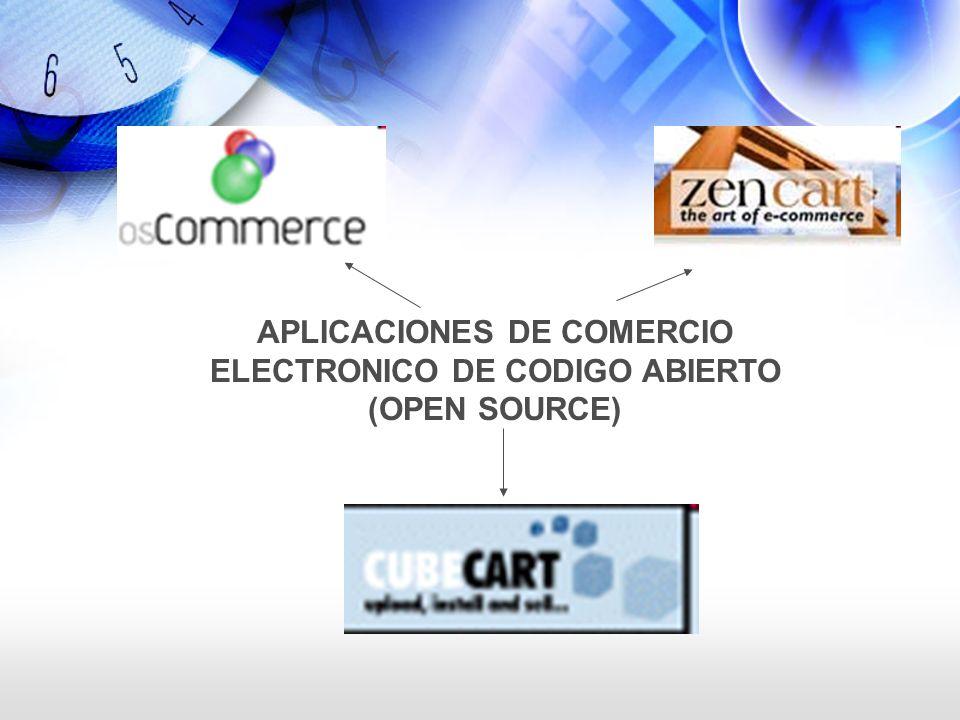 APLICACIONES DE COMERCIO ELECTRONICO DE CODIGO ABIERTO (OPEN SOURCE)