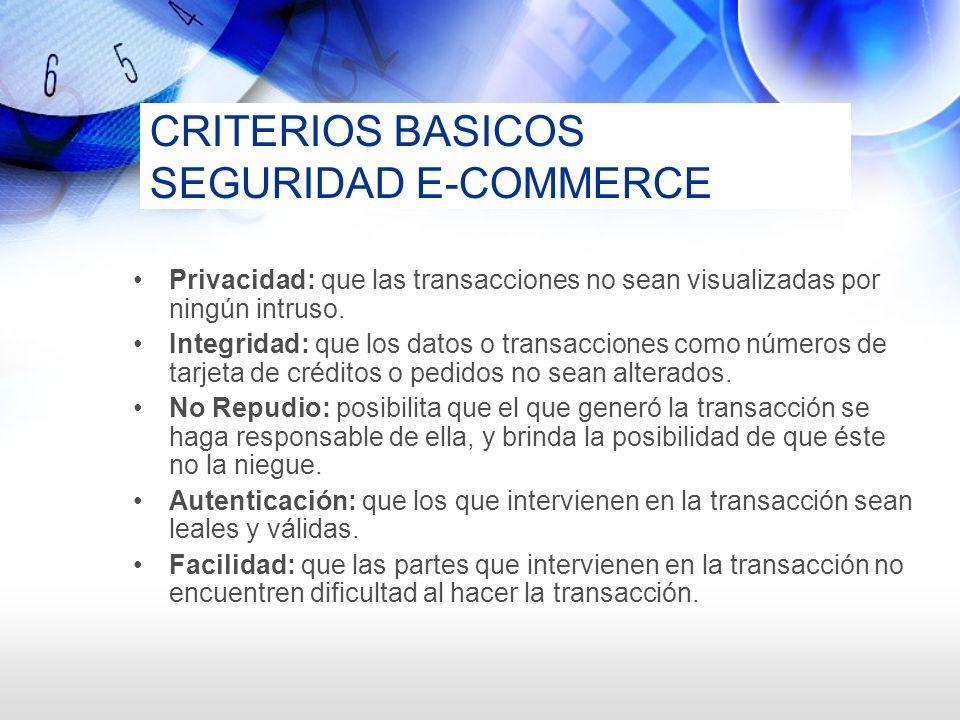 CRITERIOS BASICOS SEGURIDAD E-COMMERCE