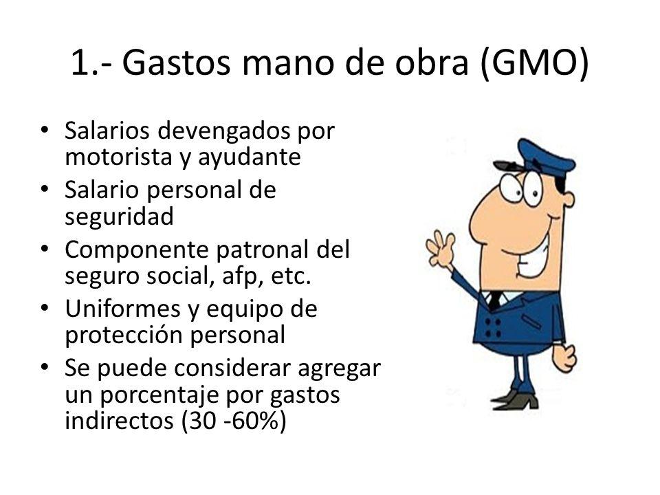 1.- Gastos mano de obra (GMO)
