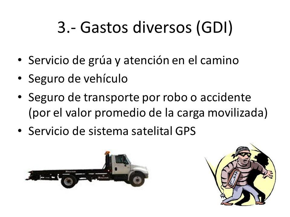 3.- Gastos diversos (GDI)