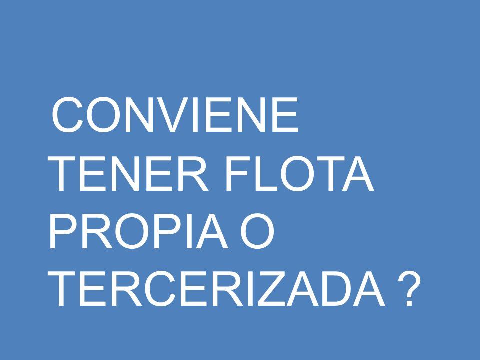 CONVIENE TENER FLOTA PROPIA O TERCERIZADA
